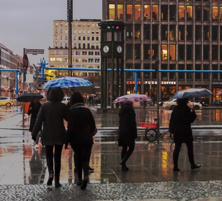 Rainy Day on Potsdamer Platz, Berlin 2018