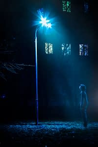 Night Street with lamp