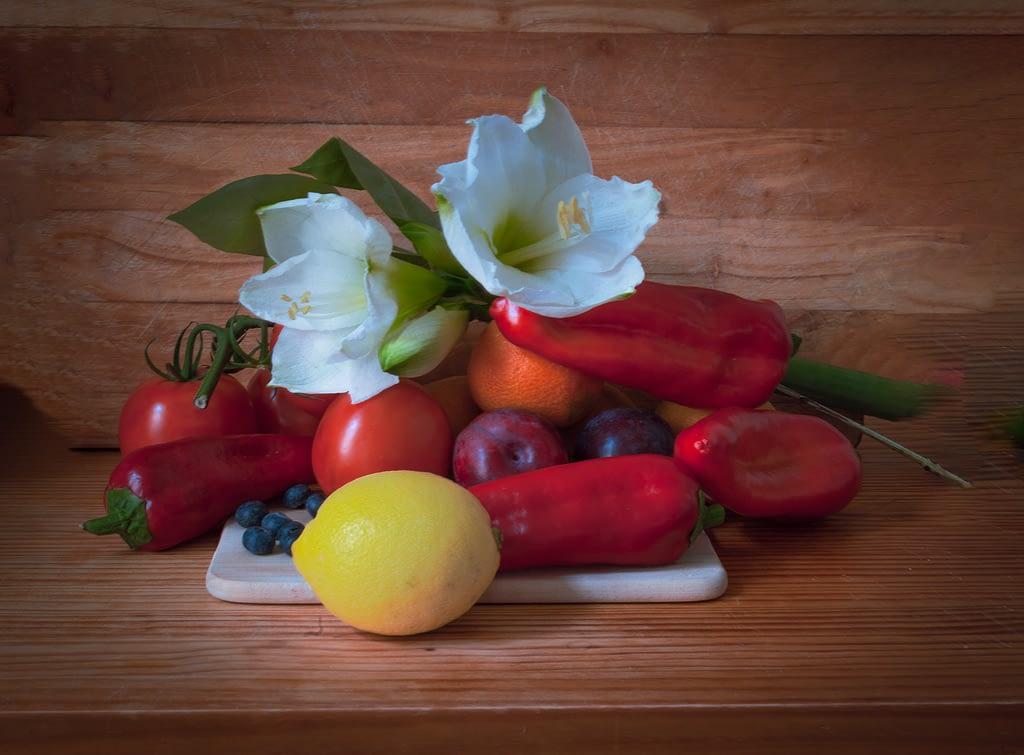 Photography still life - Peppers & Flowers © Sean P. Durham, Berlin , 2020