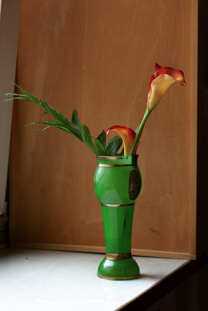 Green Vase and Lilies, Berlin 2020, Copyright :Sean P. Durham